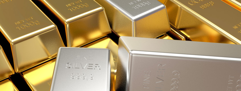 Gold- und Silberbarren