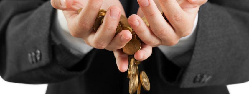 Geld rinnt uns durch die Hände